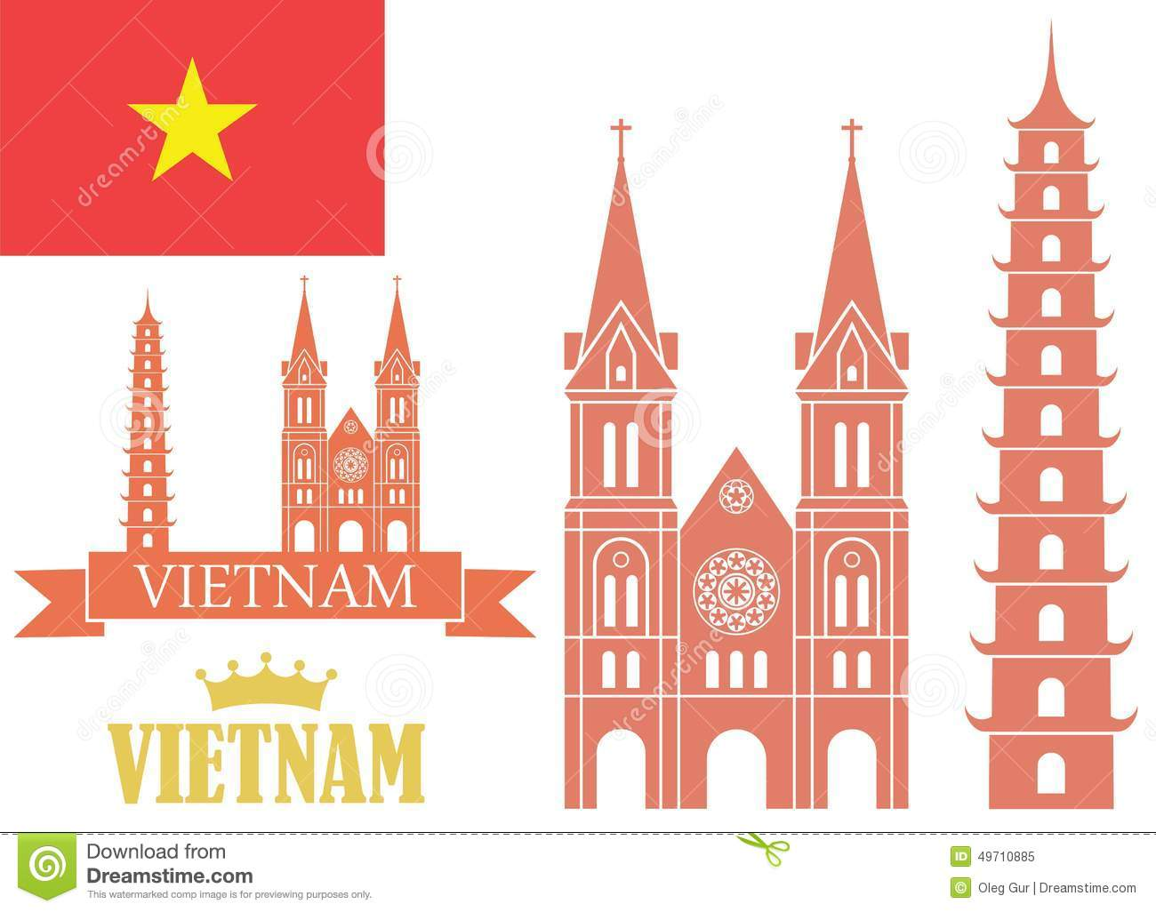 Silhouettes Of Cities Stock Vector.
