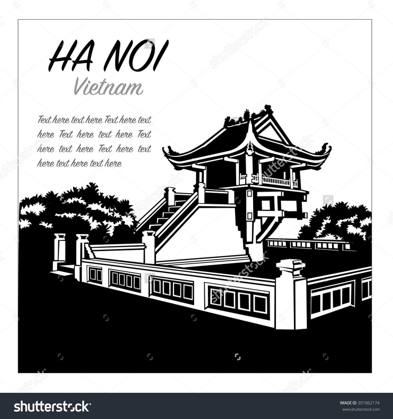 Symbolizing Hanoi Northern Vietnam Stock Vector 351062174.