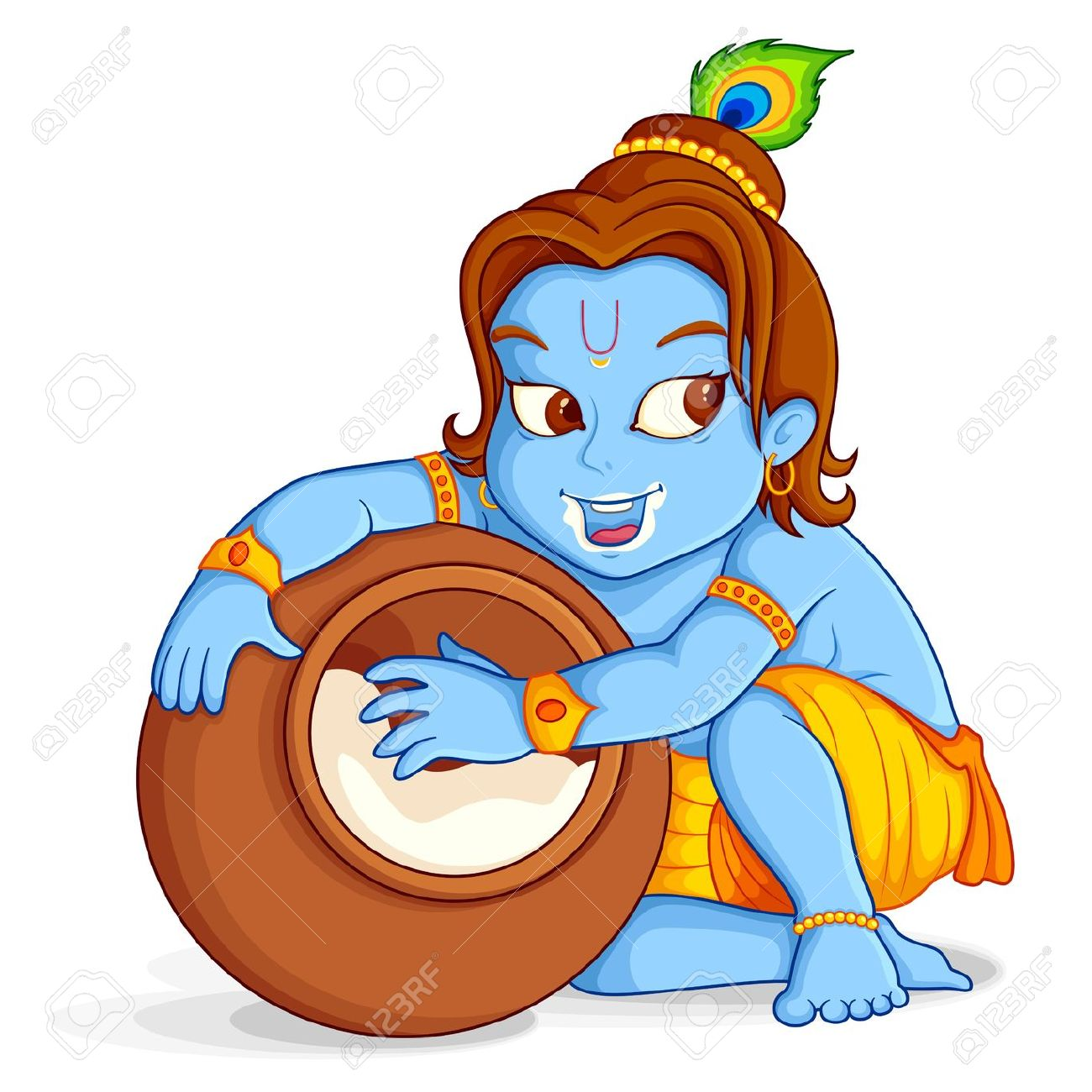 Baby krishna images clipart.