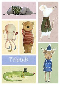 Happy Birthday Illustration by Judith Loske www.judith.