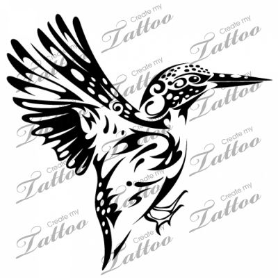 Marketplace Tattoo SBink Kingfisher #1478.