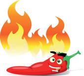 Hot pepper clipart.