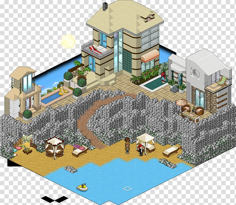 Habbo Party Room House Beach, party transparent background.