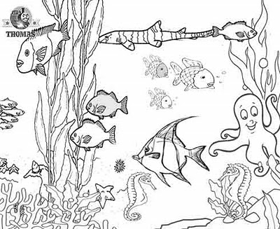Ocean Habitat Clipart Black And White.