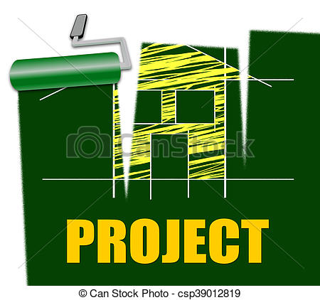 Clipart of House Project Means Make Over And Habitation.