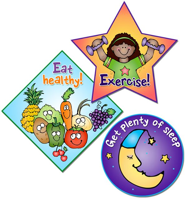 Healthy habits clipart.