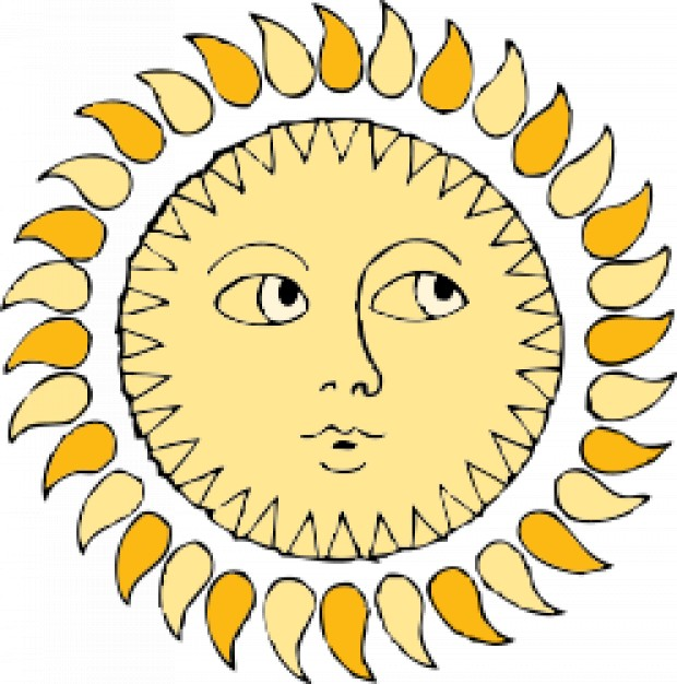 Sun with eyes vector Vector.