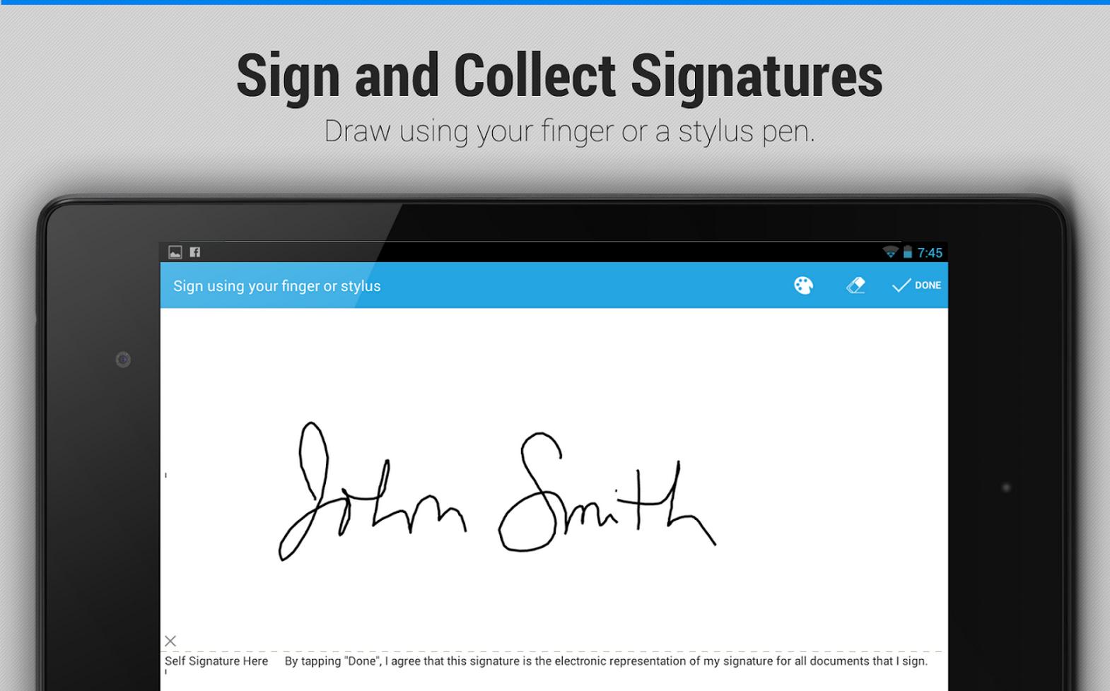 Firma a mano tus documentos desde tu android con EasySign.