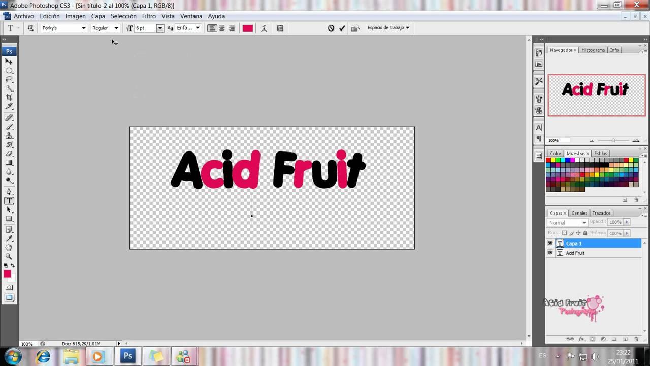 Como hacer una Firma en PNG con Photoshop [PEDIDO].