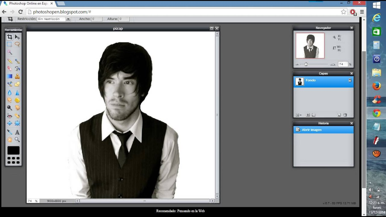 COMO HACER UNA IMAGEN PNG EN photoshop ONLINE.