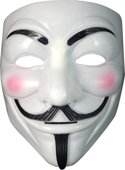 Download ANONYMOUS MASK Free PNG transparent image and clipart.