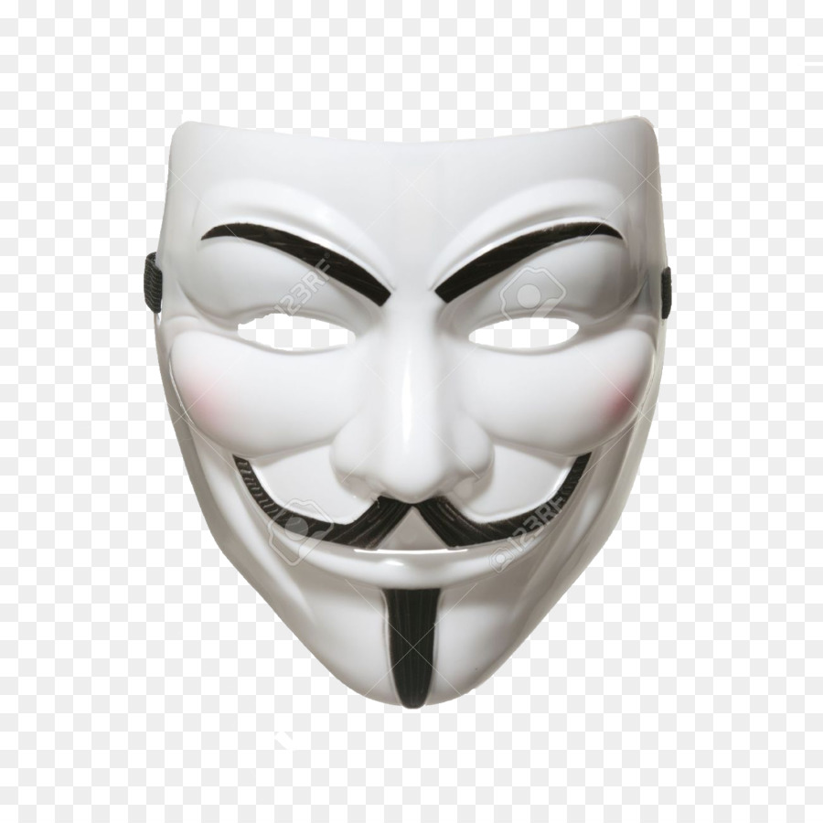 Guy Fawkes mask Anonymous Security hacker.