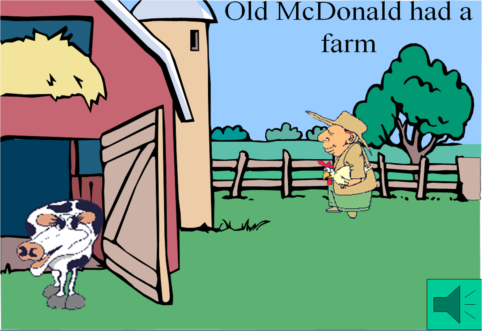 Old Macdonald Had A Farm Clipart.