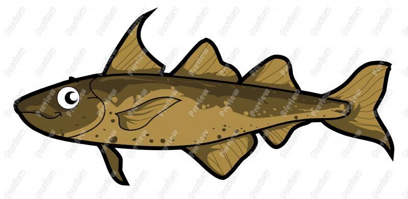 Haddock Character Clip Art.