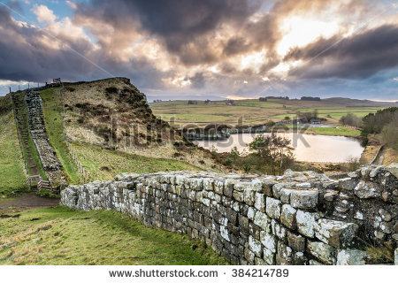 Hadrians Wall Stock Photos, Royalty.