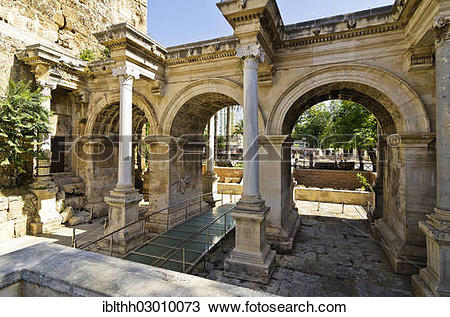 "Stock Photo of ""Hadrian's Gate or Gate of Hadrian, in honour of."
