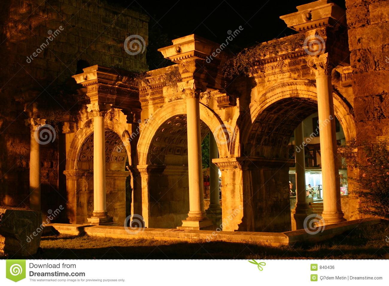 Hadrian's Gate Stock Photo.