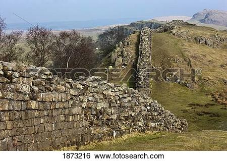 Stock Images of northumberland, england; hadrian's wall 1873216.