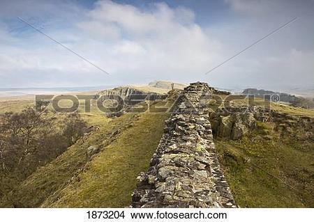 Stock Photo of northumberland, england; hadrian's wall 1873204.