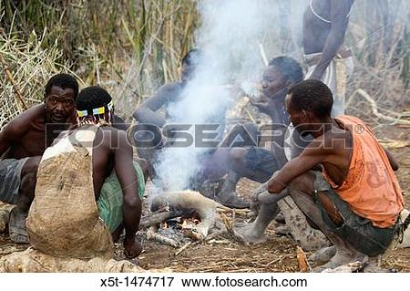 Picture of Africa, Tanzania, Lake Eyasi, Hadza tribe A small tribe.