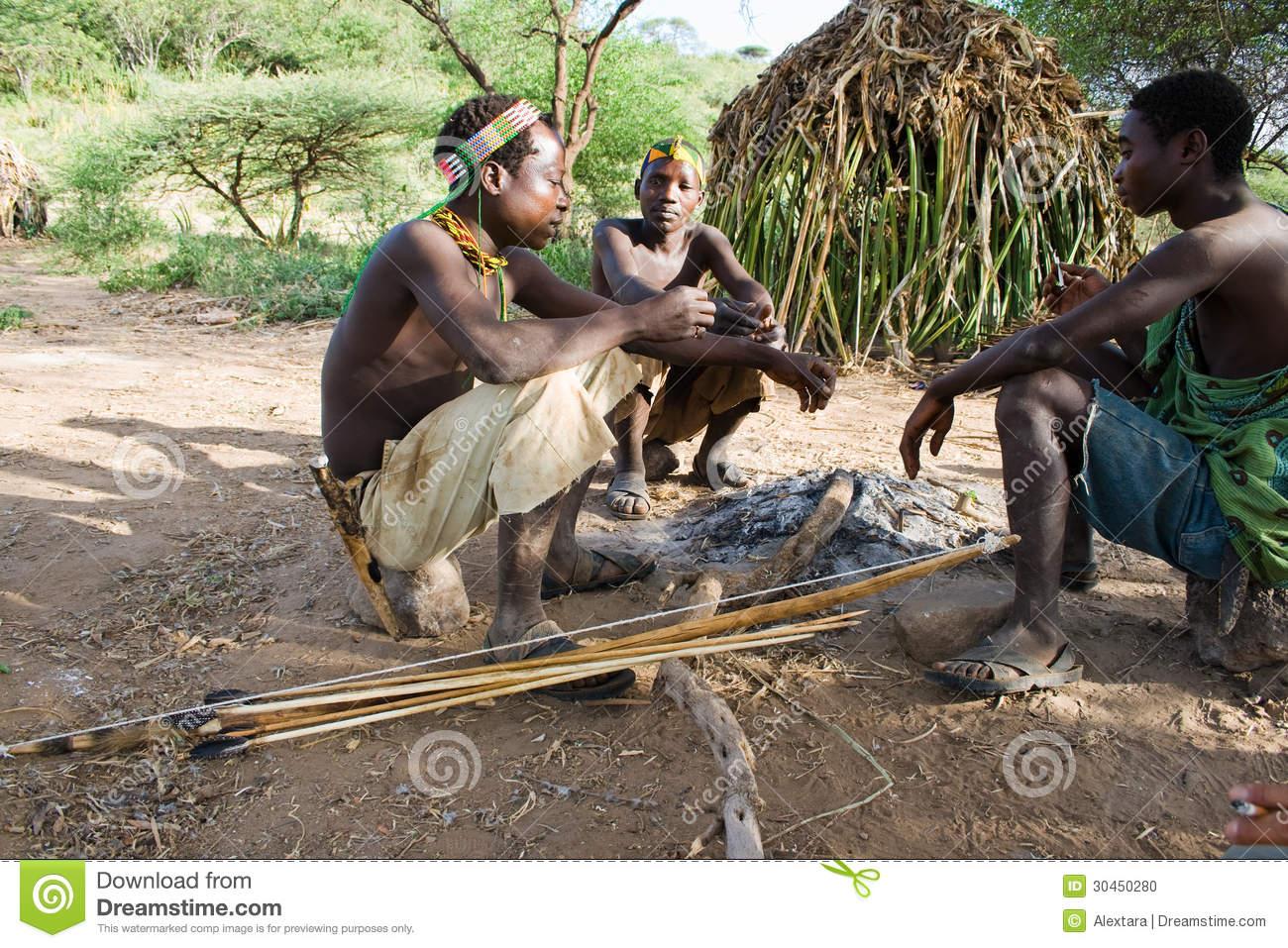 Hadzabe Bushmen Editorial Image.