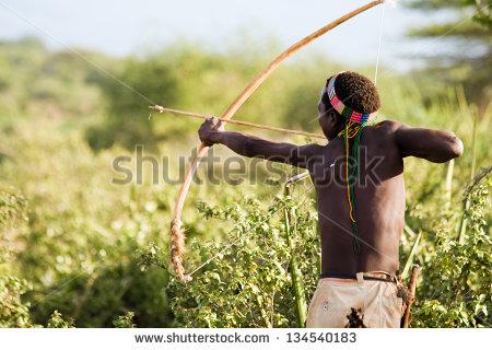 Bushman Stock Photos, Royalty.
