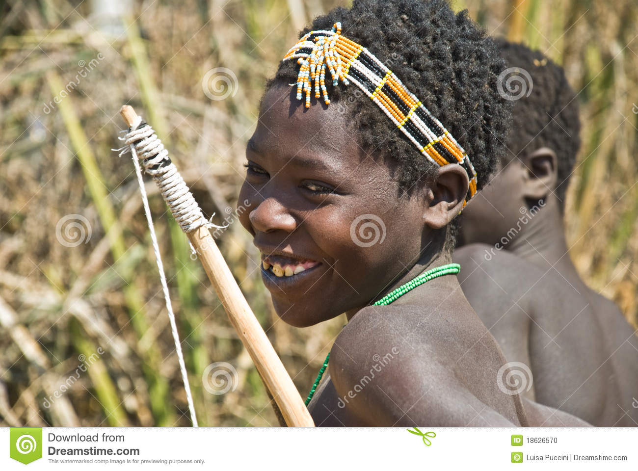 Young Hunter From Hadza Tribe Editorial Image.