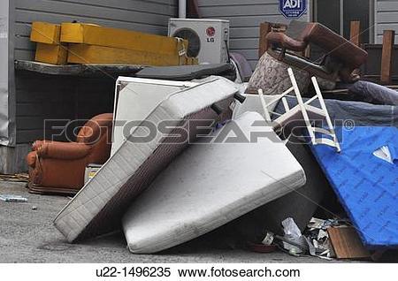Stock Image of Busan (South Korea): garbage dumped at Haeundae.