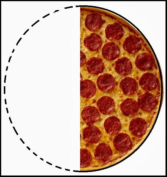 Half a pizza clipart.