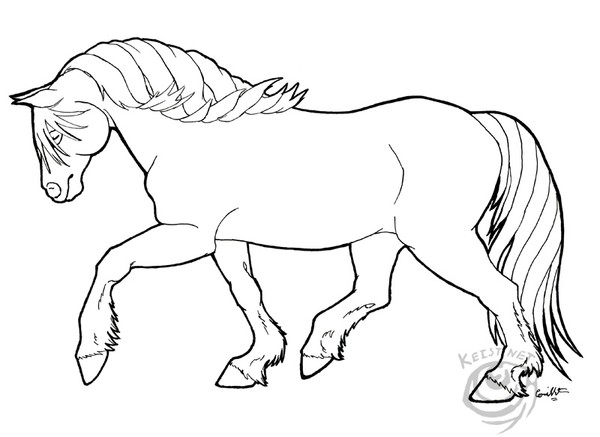 free griffon coloring pages | Haflinger clipart - Clipground