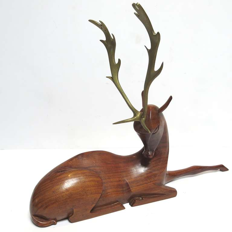 Art Deco Deer Sculpture by Karl Hagenauer at 1stdibs.