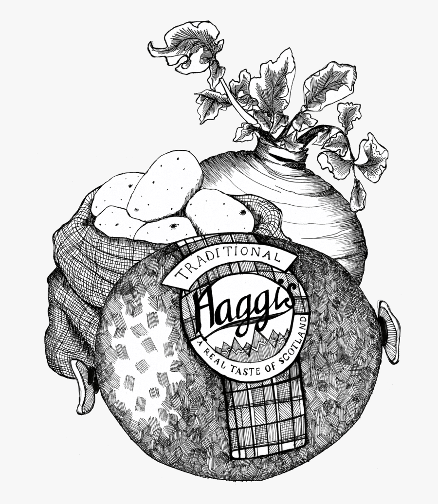 Gillian Kyle Scottish Food Art Haggis Neeps Tatties.