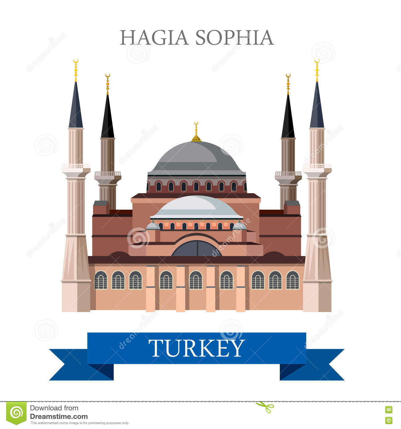 Hagia Sophia Stock Illustrations.
