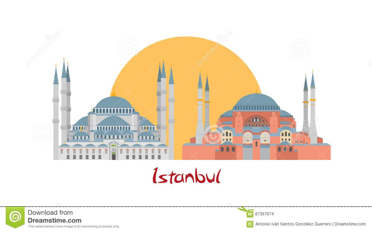 Hagia Sophia Architecture Clip Art.