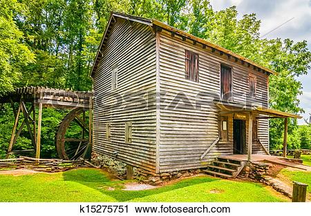 Stock Photography of Hagood Mill Historic Site in south carolina.