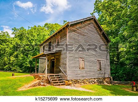 Stock Photograph of Hagood Mill Historic Site in south carolina.