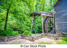 Stock Image of Hagood Mill Historic Site in south carolina.