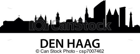 Vector Illustration of Skyline Den Haag.