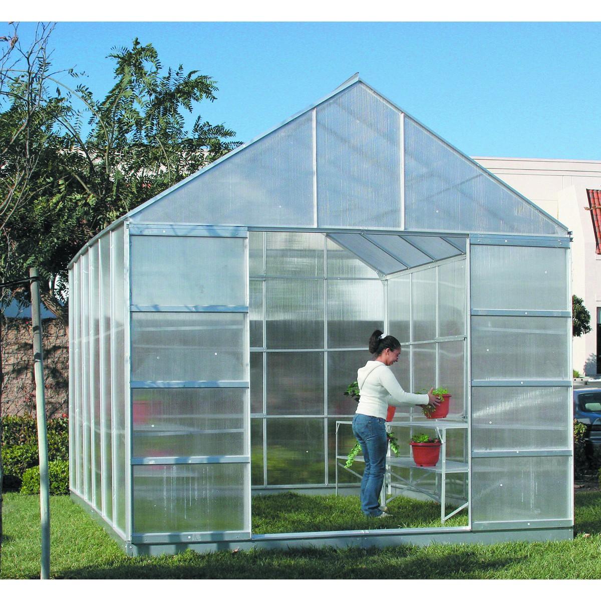 Greenhouses.