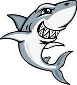 Friendly Shark Clip Art.