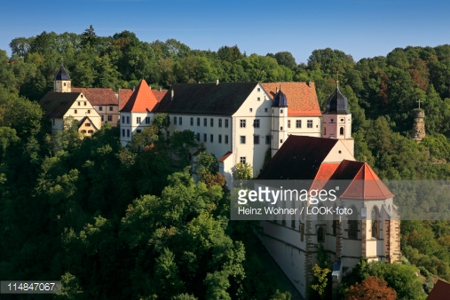 Haigerloch Castle Haigerloch Badenwuerttemberg Germany Stock Photo.