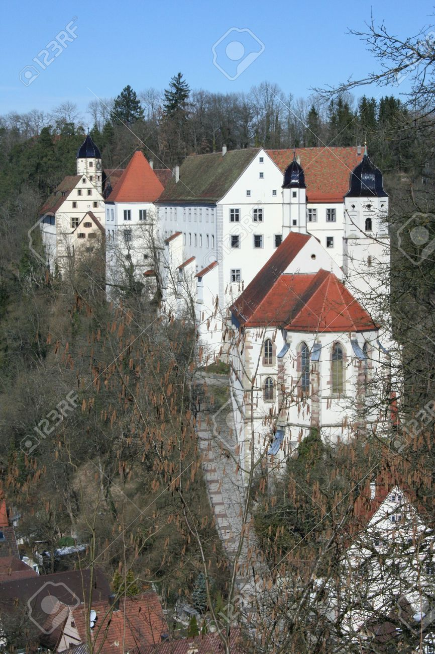 Castle Haigerloch In Germany Stock Photo, Picture And Royalty Free.