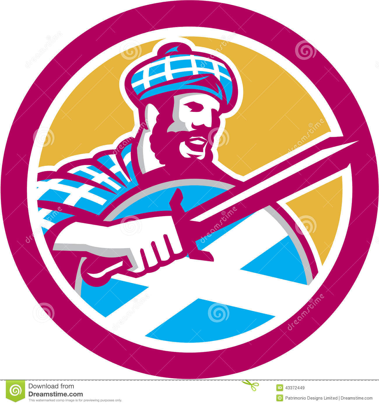 Highlander Stock Illustrations.