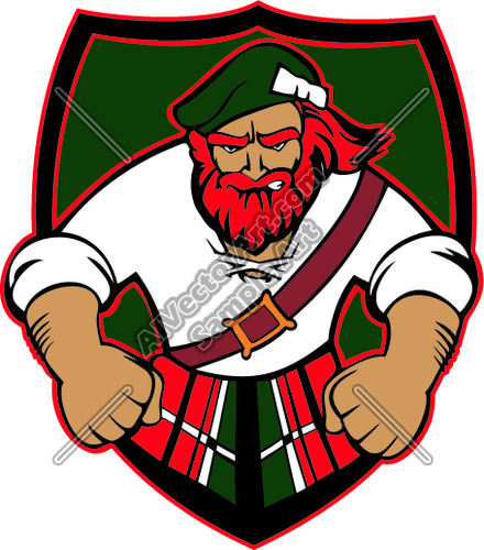 highlander02V4CLR Clipart and Vectorart: Sports Mascots.