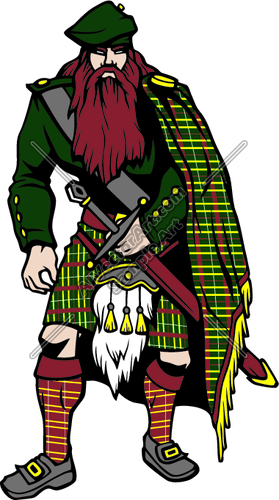 HighlanderC06 Clipart and Vectorart: Sports Mascots.
