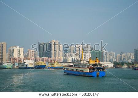 China, The Port Of Haikou City, Hainan Province Landscape Stock.