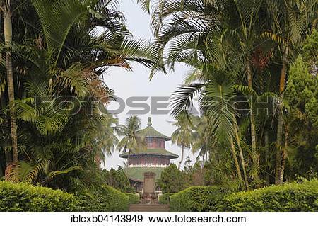 Stock Photograph of Grave of the Chinese Hai Rui, Haikou, Hainan.