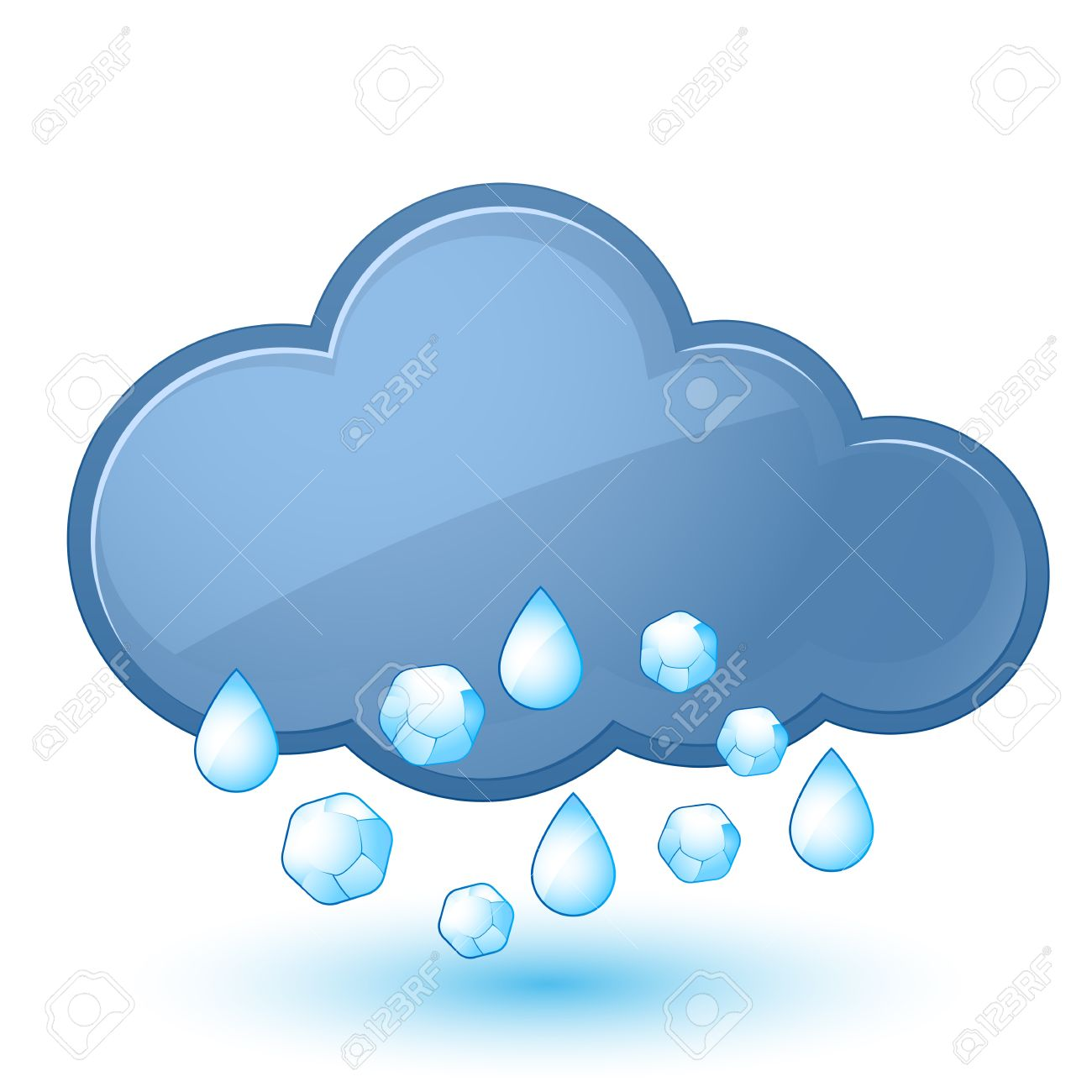Hail cloud clipart.