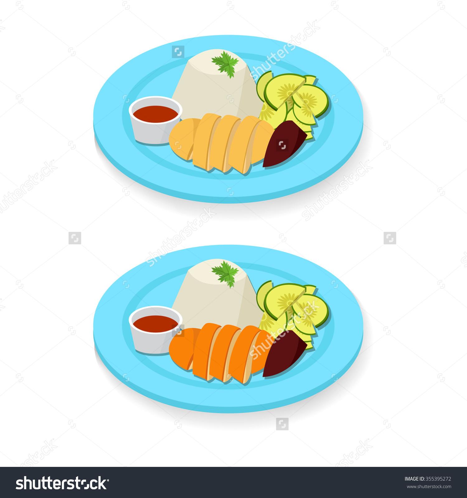 Chicken rice clipart.