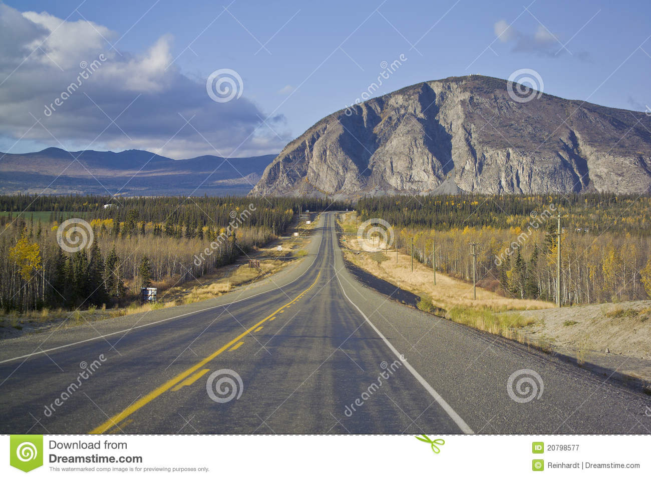 Alaska Highway Near Haines Junction Royalty Free Stock Photography.